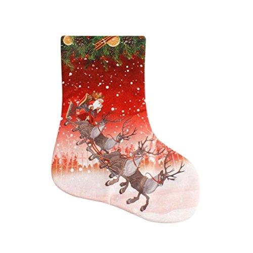 dekore Geschenkbeutel Socke Dekoration für Weihnachtsbaum, 40 x 30cm (F) (Superhelden-ostereier)