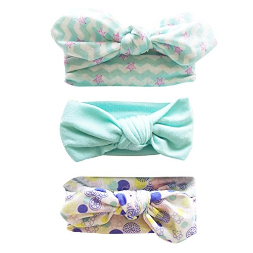 Hocaies Hocaies Baby Elastic Hasenohren Stirnbänder Haarbänder Baby Mädchen Stirnbänder verknotete Baby Stirnbander Baby Top Knot Madchen Turban Headwrap Knot Stirnband Kleinkind (02)