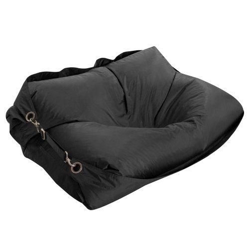 Bazaar Bag Großer Sitzsack mit Gurten, Schwarz (für Innen- und Außenbereich) - 6