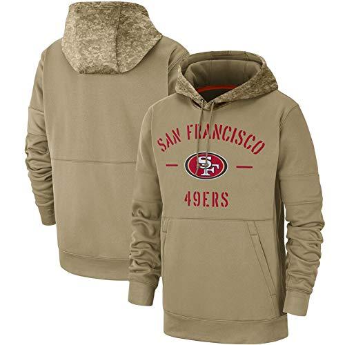 ATI-HSKJ Männer Kapuzenpullover San Francisco 49ers Jacke American Football Sport American Football-Trikots Pullover Casual Langarmshirts Pullover,M165~170CM