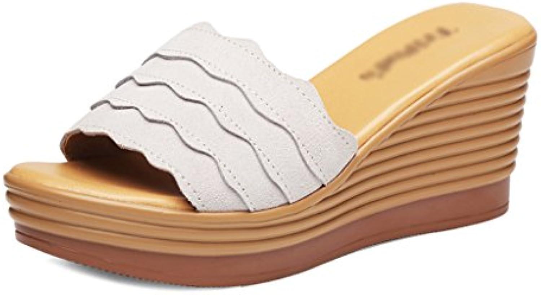 Sandales Nuevo Estilo Salvaje Versión Coreana Zapatos De Mujer Temporada De Verano Malla Transpirable Calzado Deportivo Cómodo Zapatos Planos 39 EU|Gris