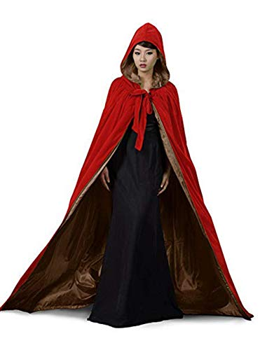 Velvet Kapuzenumhang Kostüm Für Kinder Hexen Wicca Robe Cosplay Karneval Halloween Party Cape Rollenspiel Dress up Zubehör