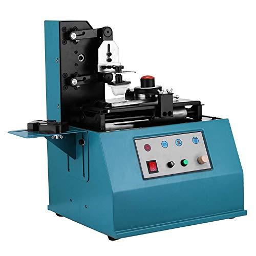 Mophorn Tampondruckmaschine TDY-300C Tampondruckpresse 220V elektrische Tampondrucker einstellbar stabil zum Druckdatum (TDY-300C)