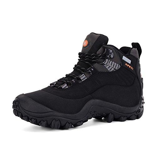 XPETI Thermator Damen Wasserdicht Wanderstiefel,Trekkingschuhe Leicht Wanderschuhe Outdoorschuhe Mädchen Frauen Hiking Boots Women Sport Draussen,Schwarz EU 40