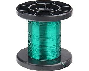 Donau Elektronik LD15-4- Alambre de Cobre esmaltado, 100 m, Color Verde
