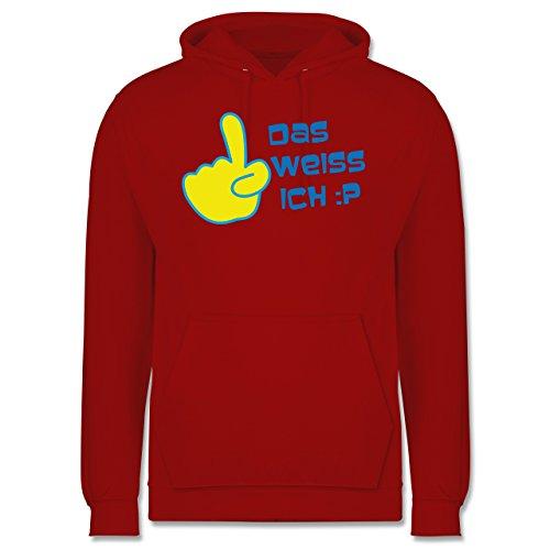 Symbole - Das weiß ich - Männer Premium Kapuzenpullover / Hoodie Rot