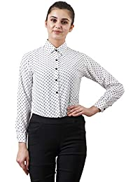 indietoga Women's Polka Dots Casual Shirt Top (Small to Plus Size Shirt 7XL)