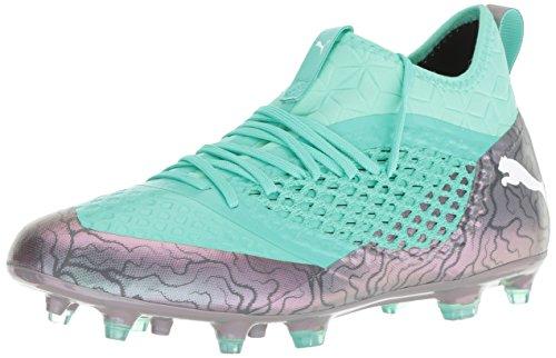 PUMA Men s Future 2 3 Netfit FG AG Soccer Shoe  Color Shift-Biscay Green White Black  7 M US