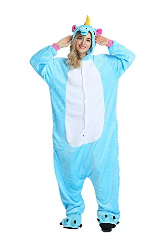 Pyjama Party Kostüm Für Erwachsene - Rainbow Unicorn Schlafanzug Unisex Erwachsene Einhorn