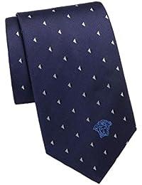 Versace Men's Triangle Patterned Woven Silk Necktie
