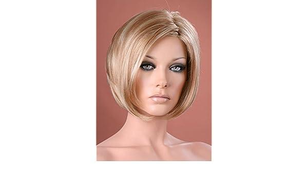 Forever Young - Parrucca corta biondo fragola 2-tone ritagliata Bob Style  WIG  Amazon.it  Bellezza 924603a6320b