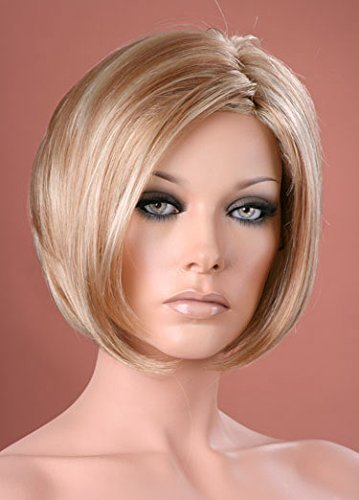 Forever Young Damen-Perücke, Kurzhaarfrisur, zweifarbig blond, Bob -