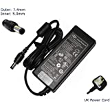 "Laptop Charger for HP PAVILION DV6 (All Models) DV6-2010SA DV7 DV7-3020SA Compatible Replacement Laptop Charger Adapter Adaptor PSU (with UK P/cord and 12 month warranty) - ""Laptop Power UK"" (TM) Branded"