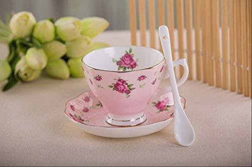 22222Tasse Kaffeetasse mit Untertasse und Löffel aus feinem Porzellan, witziges Modedesign, Espressotassen, europäische Kaffeetasse B
