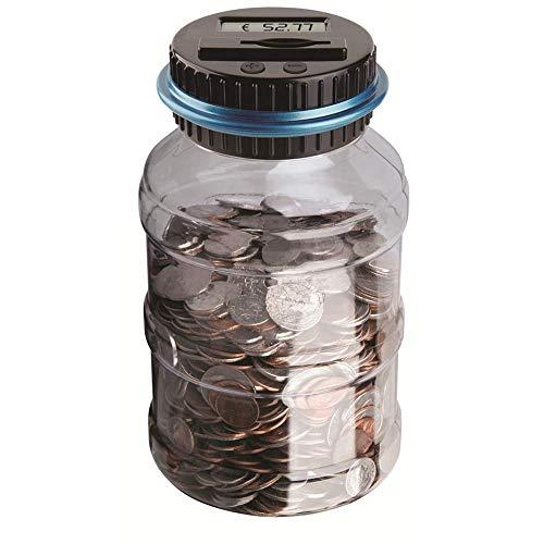 BESTZY Digitale Piggy Bank Euro Counter,munt tellen geld besparen box munt munt munt bank met LCD Dispaly voor kinderen en volwassenen (euro) -