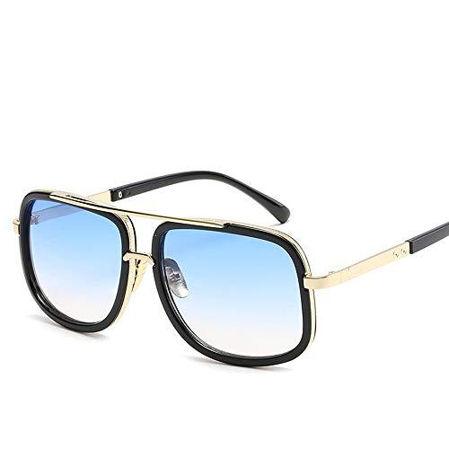 JIGAN Retro Sonnenbrille Brille Square Eyewear Metallrahmen für Männer Frauen Iron Man Sonnenbrille,3