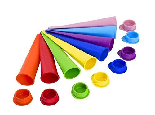 8er-Set Mehrfarbig Silikon Eis Pop Maker Set,Ice Pop Formen Stieleisformer Eis Lutscher Stieleisformen Eisformen Beste Eiscreme Formen