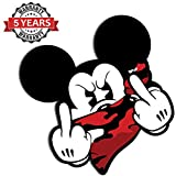 Biomar Labs 2 x PVC Auto-Adhésif Vinyle Autocollant Mickey Mouse Doigts du Milieu Stickers Auto Moto BB 32