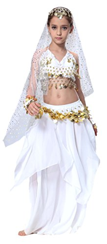 Seawhisper Mädchens Kleid Bauchtanz Chiffon Pailletten Halloween Karneval -