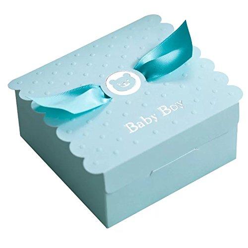 Baby Dusche Gefälligkeiten Nette Baby Mädchen Baby Engel Flügel Entworfen Schokolade Verpackung Box Pralinenschachtel Geschenkbox für Kinder Geburtstag Baby Dusche Gäste Hochzeit Li (Baby-mädchen-bevorzugung Boxes)