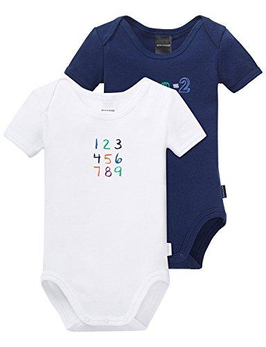 Schiesser Baby-Jungen Body 2pack Bodies 1/2, 2er Pack, Mehrfarbig (Blau Sortiert 1 901), 92 (Herstellergröße: 092)
