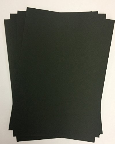 100 Blatt DIN A5 schwarzes Papier 90g/m² von Top Lamination - Fotoalbum, Einladungen, Einlegeblätter für Alben, Hochzeitskarten, Basteln