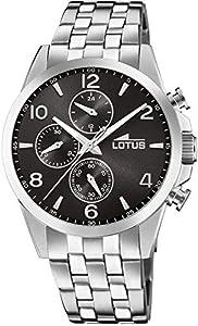Lotus Reloj Cronógrafo para Hombre de Cuarzo con Correa en Acero Inoxidable 18629/4