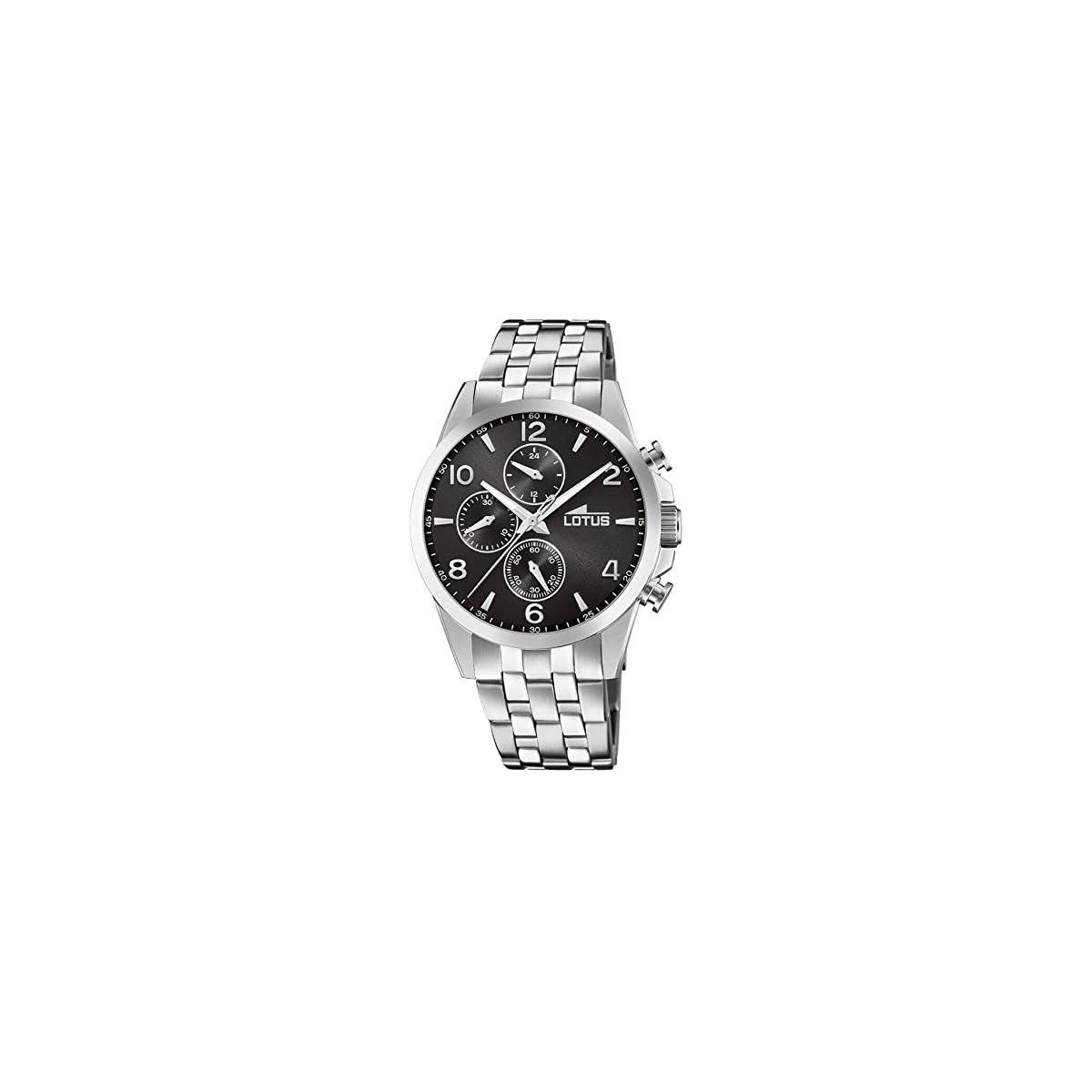 41a8eOkaimL. SS1200  - Lotus Reloj Cronógrafo para Hombre de Cuarzo con Correa en Acero Inoxidable 18629/4