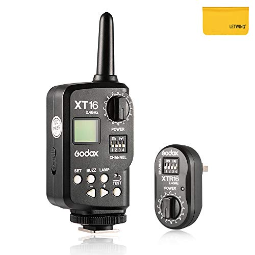 Godox XT16 Drahtlose 2.4G Fernbedienung Flash-Trigger + Receiver für Witstro Outdoor-Blitz, Quicker, Quicker D, QT, QS, Zwillinge GT, Zwillinge GS, DE, und DP Flashes Serie Studio Remote-flash