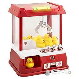 Gadgy ® Candy Grabber Juego de Dulces | Maquina de Garra con Patos Plástico | USA Energia del USB | No Se Necesitan Baterias | Conveniente Boton Silencioso