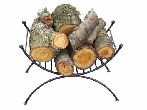 Gardeco loghold Dekorative Log Halterung-Schwarz -