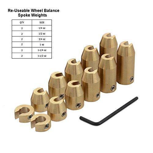 H2RACING 100-teilig Reifen Brass Auswuchtgewichte Wuchtgewichte für Stahlfelgen Wuchtgewichte