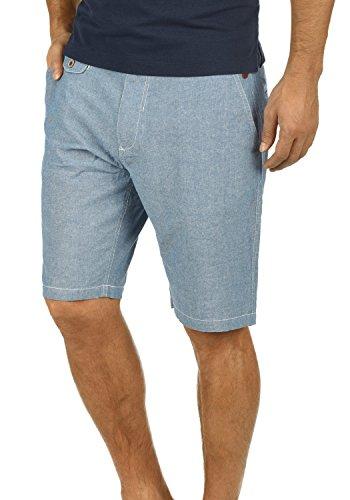 Blend Ikarus Herren Leinenshorts kurze Leinenhose Bermuda In Leinen-Optik Aus 100% Baumwolle Regular Fit, Größe:M, Farbe:Ensign Blue (70260) (Tops Leinen Für Hose)