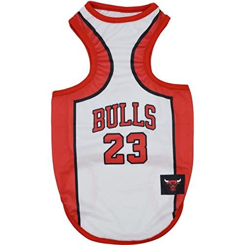 Cool Mesh-polo (Hunde-Weste mit Mesh Pet Basketball Polo Shirt Teddy Welpen Katze Kleidung Spring Summer Cool Komfortable Kleidung T-Shirt YAWJ (Farbe : Red and white, größe : M))