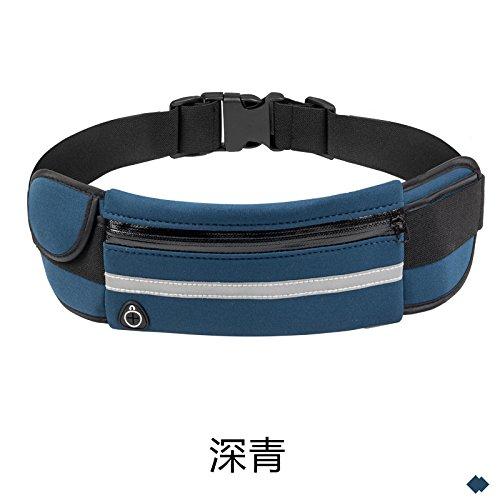 Multifunktionale Taille Tasche, Laufen Üben, Handtasche, Outdoor, Wasserdichte Multifunktions - deep blue