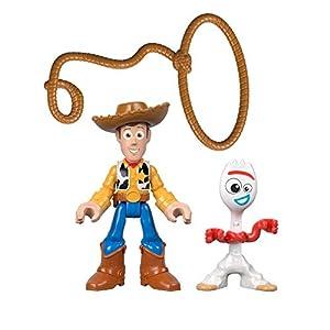 Imaginext - Disney Toy Story 4 Pack Aventuras Figuras Woody y Forky, Juguetes Niños +3 Años (Mattel GBG90)