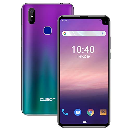 CUBOT MAX 2 64GB 6.8-Inch Android 9.0 SIM-Free Smartphone with 5000mAh Big Battery, 4GB RAM, 4G Dual SIM, 13MP Camera, Fingerprint Sensor, Face ID Unlocked Moible Phone (Gradient Colour)