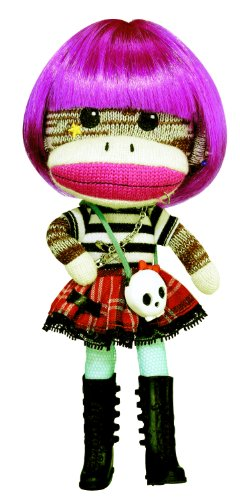 Planet Sock Monkey Doll - Magenta Beetsch (Monkey Sock Ein)