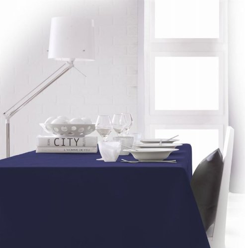 ecke aus Polyester, 140x 200cm, Polyester, Ciel d'orage/Bleu Marine, 140 x 200 cm ()