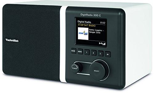TechniSat DIGITRADIO 300 C - DAB+ & UKW Radio - Digitalradio inkl. integriertem Radiowecker mit 2 einstellbaren Weckzeiten
