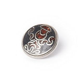 Noosa Chunk 066 Tibetain Kalasha black/brown-brass