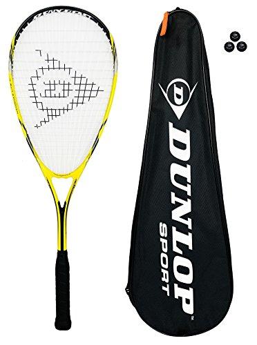 Dunlop Raquette de Squash Nanomax Lite + 3 Balls