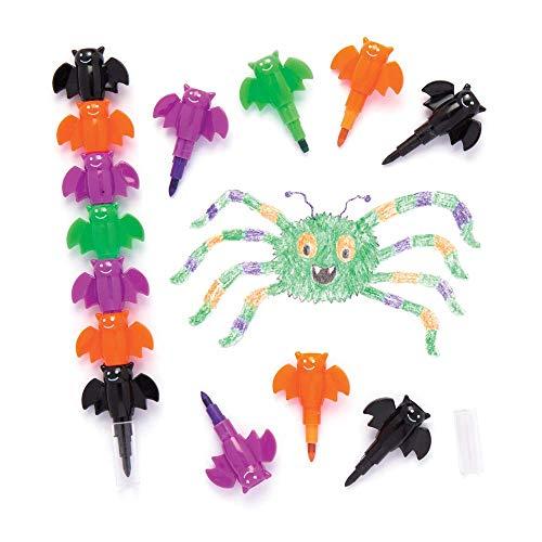 """Baker Ross Wachsmalkreiden """"Fledermaus"""" zum Zusammenstecken für Kinder – als Überraschung für Halloween-Partys (4 Stück)"""
