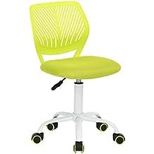Silla de escritorio Fanilife, ajustable y giratoria sin brazos de diseño, para niños,