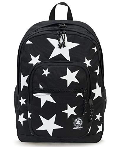 Zaino invicta - jelek - nero stelle - tasca porta pc padded - 38 lt - scuola e tempo libero