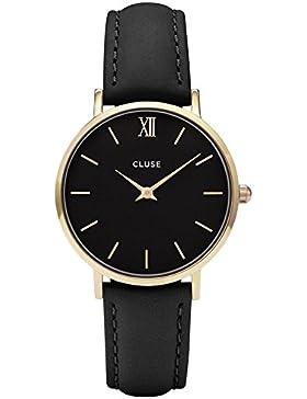 Cluse Damen Armbanduhr Analog Quarz Leder CL30004