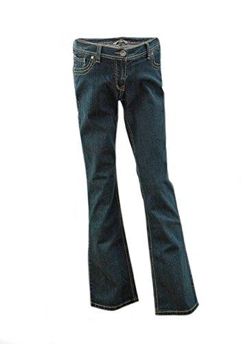 Jean para Embarazadas, Jeans de maternidad, Corte de Bota Bootcut Azul (Azule, 40 (UK 12) interior de la pierna 81cm)