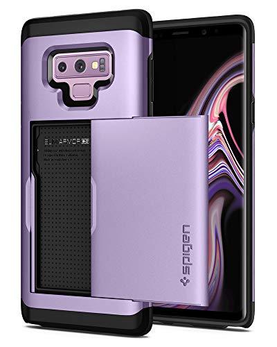 Spigen Samsung Galaxy Note 9 Hülle, [Slim Armor CS] Kartenfach Card Holder Schutzhülle für Samsung Galaxy Note 9 Case Cover Lavender (599CS24625) Slim Card Case