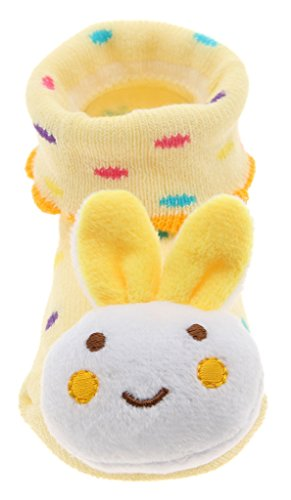 Y-BOA Chaussures Pour Bébés En Coton Convient Pour 0-4 Mois Taille 7-9cm Jacquard Couleurs Vives Janue Lapin