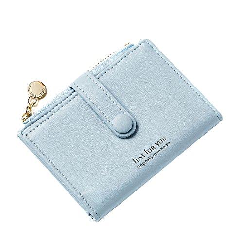 Slim Wallet Card Case Holder Superthin Compact Wallet Leather Purse Mini Pocket Putinto Clothes Pocket Handbag Women Girls Gift